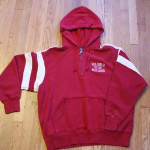 Red and White Polo Jeans Quarter Zip Hoodie